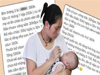 Được thưởng gần 9 triệu đồng khi sinh con thứ 2, hội bỉm sữa tung bảng chi tiêu liệu số tiền đó có đủ để nuôi con nhỏ?