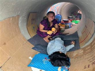 Sự thật ngỡ ngàng đằng sau bức ảnh 'đôi vợ chồng không có chỗ trọ phải ra ở ống cống' tại TP.HCM trong mùa dịch bệnh