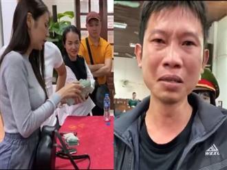 Thủy Tiên cứu trợ lũ ở Nghệ An, Hà Tĩnh: Nhiều người khóc khi nhận hàng trăm triệu đồng để trả nợ