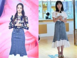 1 chiếc váy 3 số phận: Đụng hàng thế này mới thấy vóc dáng Nhiệt Ba đúng là cực phẩm