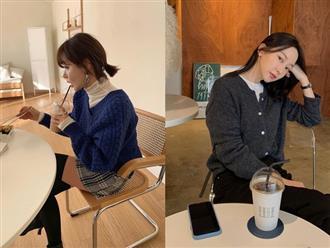 4 cách diện áo len tối màu thật sang, giúp bạn gầy đi tận mấy kilogram mà không bị già nua chút nào
