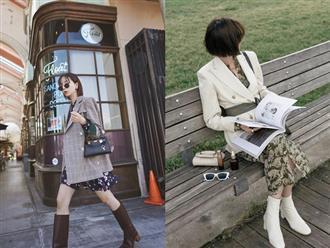 4 cách diện boots kết hợp với chân váy cực sành điệu