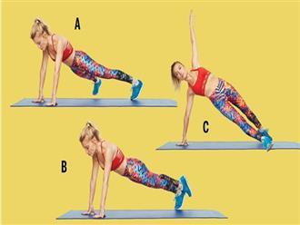 5 bài tập giúp bạn có bụng phẳng, săn chắc, eo thon trong thời gian ngắn phù hợp với hầu hết chị em
