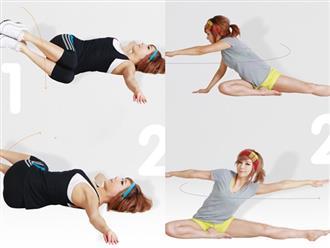 5 bài tập nhẹ nhàng giúp 'đánh tan' mỡ bụng chỉ mất 10-15 phút trước khi đi ngủ