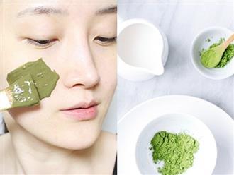 5 cách làm mặt nạ trà xanh trị mụn mờ thâm, trẻ hóa làn da cực hiệu quả