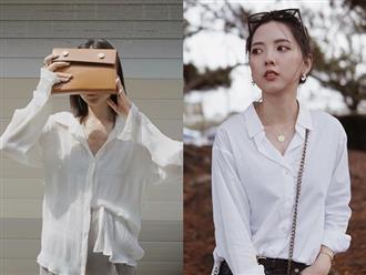 """5 kiểu áo trắng """"trường tồn"""" trong tủ đồ của nàng công sở, năm nào cũng sắm và phải công nhận mix kiểu gì cũng đẹp"""
