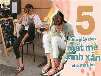 5 kiểu giày dép mát mẻ xinh xắn cho ngày hè khi nắng nóng lúc mưa bất chợt