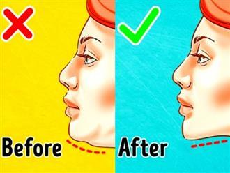 5 mẹo đơn giản để loại bỏ hai cằm hiệu quả chỉ sau 2 tuần