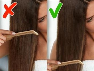 7 sai lầm khi chải tóc khiến tóc hư tổn, gãy rụng nhiều người mắc phải