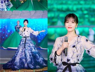 'A Châu' Lưu Đào đẹp như tiên nữ trên sân khấu chào xuân