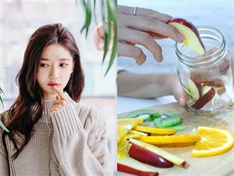 Ăn bánh chưng cả 3 ngày Tết cũng không sợ nổi mụn chỉ với 1 ly nước thanh lọc cơ thể làm từ táo