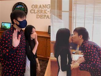 Anh Khang thông báo đã đăng ký kết hôn tại Mỹ, lần đầu để lộ diện mạo bạn gái sau bao năm giấu kín