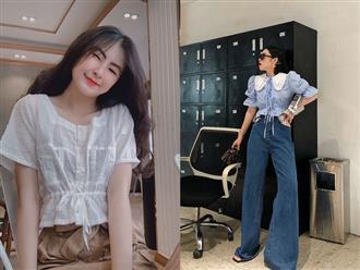 """Áo blouse nhấn eo đã """"hack"""" dáng còn mix được 5 kiểu khác nhau, bảo sao nàng nào cũng muốn sắm vài ba chiếc"""