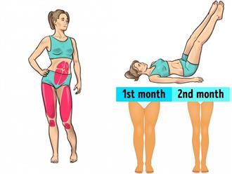 Bài tập 3 phút trước khi ngủ giúp loại bỏ mỡ ở đầu gối và hông, cho bạn đôi chân thon thẳng tắp