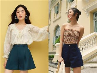Bạn có nhắm mắt cũng mặc đẹp nếu mix quần short ống rộng với 12 kiểu áo xinh yêu