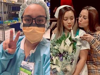Bận rộn với công việc y tá ở Mỹ, con gái Phi Nhung vẫn dành tặng mẹ điều đặc biệt trong ngày sinh nhật