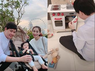 Bận trăm công nghìn việc, ông xã doanh nhân của Hoa hậu Đặng Thu Thảo vẫn làm điều ngọt ngào này cho con gái rượu