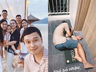"""Bất ngờ với hình ảnh """"bê tha"""", nhậu say bất tỉnh nằm bẹp trước cửa phòng khách sạn của """"Hoàng tử sơn ca"""" Quang Vinh"""