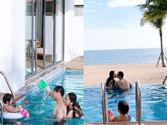Bị chê tăng cân sau sinh, Phan Như Thảo vẫn tự tin diện bikini, ôm ấp chồng đại gia cực tình tứ