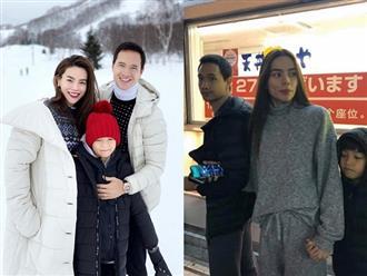 Bị chụp lén khi đi du lịch Nhật Bản, nhan sắc thật của Hà Hồ và Kim Lý gây ngỡ ngàng