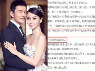 Bị đồn ly hôn, Huỳnh Hiểu Minh và Angela Baby thắng kiện, được bồi thường hơn 200 triệu đồng