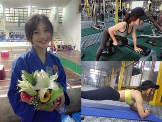 """Bí quyết giúp cô gái múa côn nhị khúc """"lột xác"""" trở thành hot girl nổi tiếng phòng gym"""