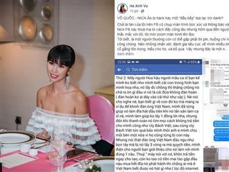 Bị tố quỵt tiền '5 lần 7 lượt', siêu mẫu Hà Anh bức xúc lên tiếng: 'Phỉ báng tôi và gia đình tôi thì tôi thấy tởm lắm'