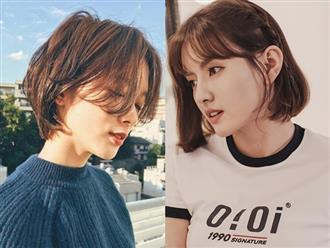 'Biến hóa' tóc ngắn cho mặt vuông trở nên mềm mại, nữ tính