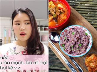 """Bữa nào cũng ăn một bát """"cơm tím"""": Bí mật giảm cân giữ dáng của phái đẹp Hàn được chính cô nàng blogger xứ Kim Chi bật mí"""