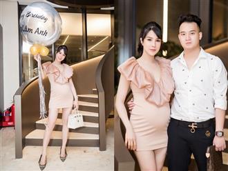 Bụng bầu 'vượt mặt', Diệp Lâm Anh vẫn xinh đẹp bên chồng thiếu gia trong tiệc sinh nhật hoành tráng tuổi 30