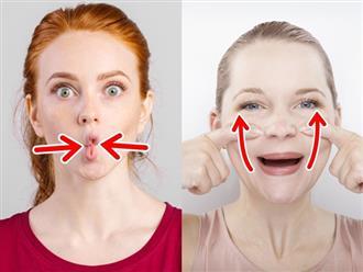 Các động tác đơn giản giúp khuôn mặt bạn trông thon gọn hơn rất nhiều sau vài ngày