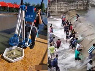 Cách câu cá cực bá đạo chỉ có ở Trung Quốc, xem thành quả còn kinh ngạc hơn