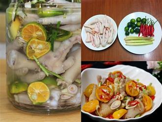 Cách làm chân gà ngâm sả tắc cực ngon cho ngày lễ 30/4, ăn mãi không chán
