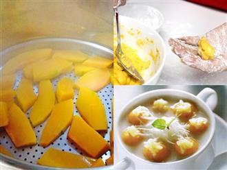 Cách làm chè bí đỏ đậu phộng bổ dưỡng cực đơn giản, ai ăn cũng phải tấm tắc gật đầu khen ngon