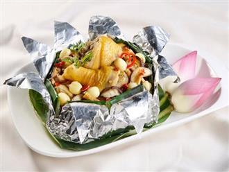 Cách làm gà hấp lá sen thơm ngon bổ dưỡng cực đơn giản