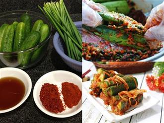 Cách làm kim chi dưa chuột muối chuẩn vị Hàn cực đơn giản tại nhà, ăn bao nhiêu cơm cũng hết