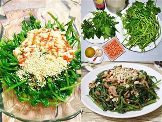 Cách làm nộm rau muống giòn ngon đúng điệu cực đơn giản, cơm ăn bao nhiêu cũng hết