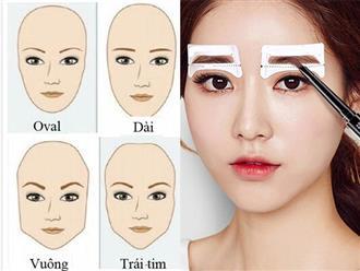 Cách vẽ chân mày đẹp tự nhiên đơn giản phù hợp với từng khuôn mặt