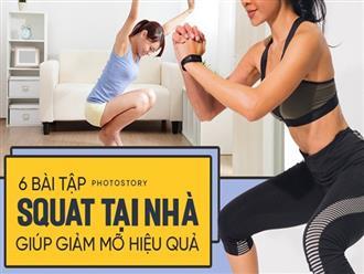 Cải thiện vòng 3 và giảm mỡ thừa mà không phải tới phòng gym với những bài squat tại nhà