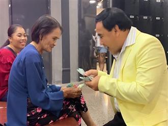 Cảm động với hoàn cảnh nhân vật, MC Quyền Linh vay tiền tặng riêng sau chương trình