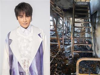 """Cảnh tượng căn nhà lụp xụp của bố mẹ """"Nhĩ Thái"""" bị người phóng hoả tan hoang, mái đổ sập"""