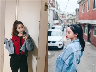Chỉ cần dùng thêm một chiếc cặp tóc nhỏ là bạn đã có mái tóc đuôi ngựa bồng bềnh như gái Hàn.