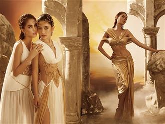 'Chị chị em em' Chi Pu và Ngọc Trinh diện váy hở bạo, xẻ cao chót vót khoe vòng 3 nóng bỏng đến 'nghẹt thở'