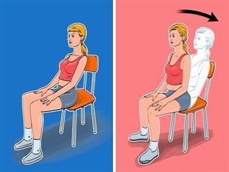 Chỉ với 1 chiếc ghế, chị em có thể giảm cân ngay tại văn phòng với loạt bài tập siêu đơn giản này