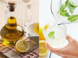 Cho một thìa dầu ô liu vào ly nước chanh uống mỗi ngày, bạn sẽ bất ngờ về những tác dụng tuyệt vời của nó