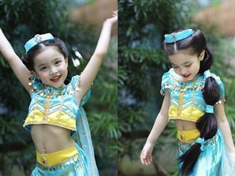 Con gái 'Mỹ nhân đẹp nhất Philippines' gây sốt khi hóa trang thành công chúa Jasmine trong ngày Halloween