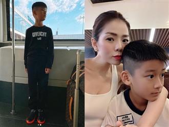 Con trai Lệ Quyên gây xôn xao vì chiều cao bất ngờ so với mẹ dù mới 9 tuổi, lại còn điển trai chuẩn soái ca tương lai thế này