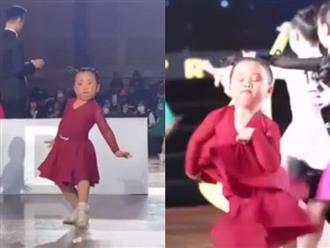 Cười chảy nước mắt trước loạt biểu cảm khó đỡ của 'thánh dancesport' tí hon