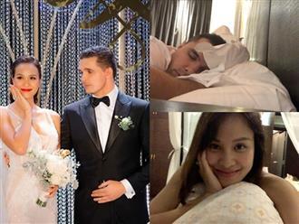 Cưới soái Tây được ít lâu, MC Phương Mai bất ngờ tiết lộ thói quen 'bệnh hoạn' của hai vợ chồng trước khi ngủ