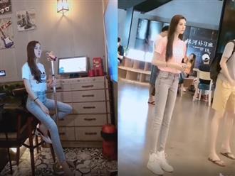 Đăng clip khoe giọng hát nhưng hot girl Trung Quốc lại khiến cánh mày râu bấn loạn vì đôi chân dài đến khó tin